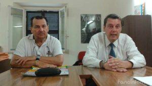 Mauro Longhini, presidente Acli Sant'Orso e Vittorio Pellegatta, direttore generale Carifano