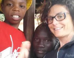 Anita Manti dell'Africa Chiama, in Kenya