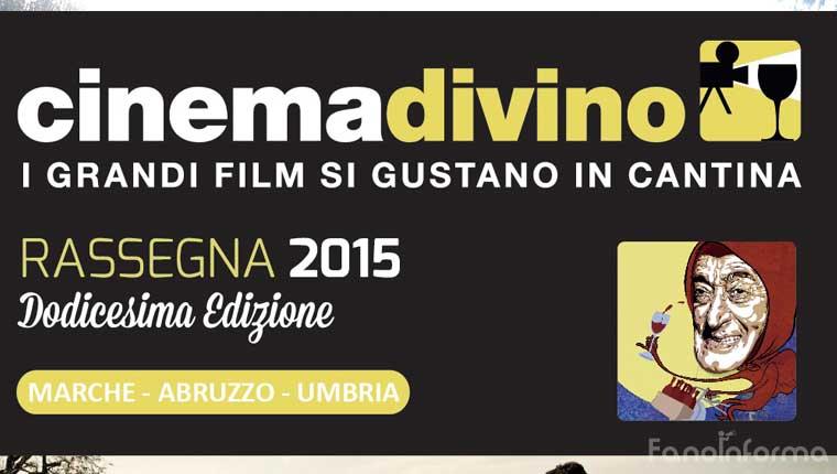 Cinema Divino a Terracruda, la cantina di Fratte Rosa (Pesaro e Urbino)