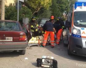 L'incidente in via del Domenichino di Fano