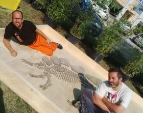 Mirco nicusanti e Andrea Giomaro, ideatori e organizzatori La Città dei Dinosauri di Fano