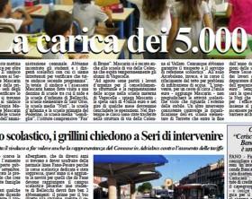 L'edizione di oggi, lunedì 14 settembre, del quotidiano Fanoinforma, con le notizie della città di Fano