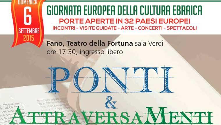 Ponti & AttraversaMenti – Giornata Europea della Cultura Ebraica a Fano
