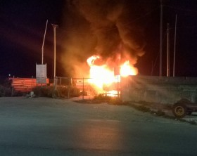 incendio al porto di fano