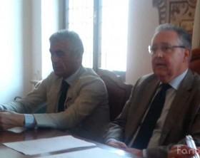 Il questore Antonio Lauriola di Pesaro e Urbino e il prefetto di Pesaro e Urbino Luigi Pizzi