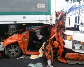 La Fiat Qubo distrutta nello scontro
