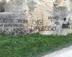 scritte sulle mura romane