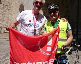 Stefano Sorcinelli e Luca Capoccia rispettivamente segretario attuale ed ex segretario dell'associazione For.Bici FIAB Fano