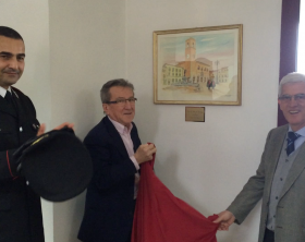 Il comandante provinciale Marco Filoni, Sergio Carboni e il comandante in congedo Giangreco