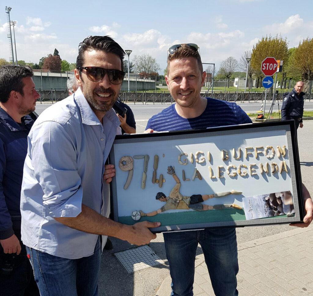 Gianluigi Buffon e Stefano Furlani