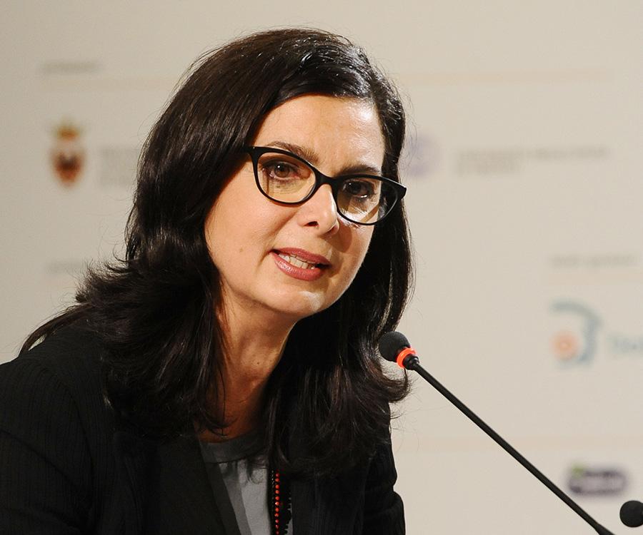 La presidente della camera dei deputati laura boldrini a for Presidente della camera attuale
