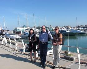 Giornalisti tedeschi al Porto Turistico di Fano