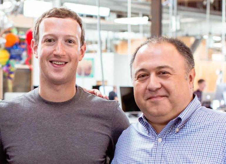 Mark Zuckerberg e Arturo Busca