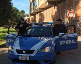 Polizia al campus