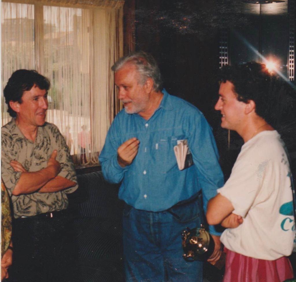 Sergio e Daniele Carboni insieme a Luciano De Crescenzo